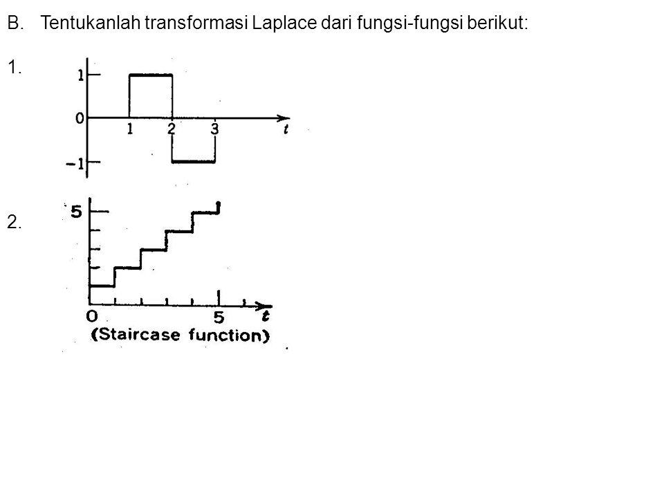 Tentukanlah transformasi Laplace dari fungsi-fungsi berikut: