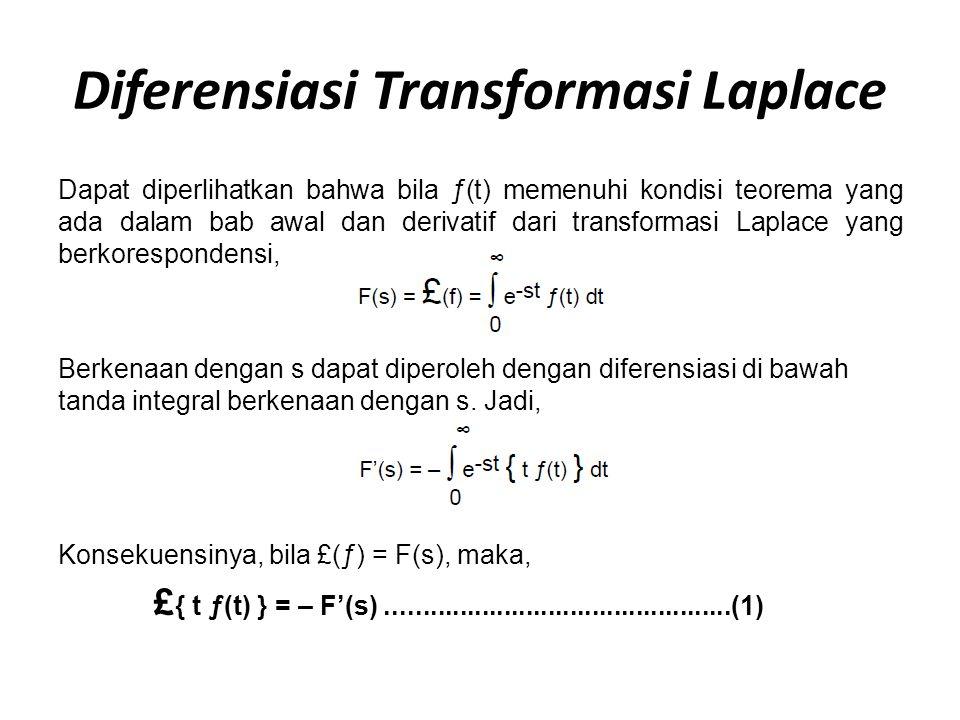Diferensiasi Transformasi Laplace
