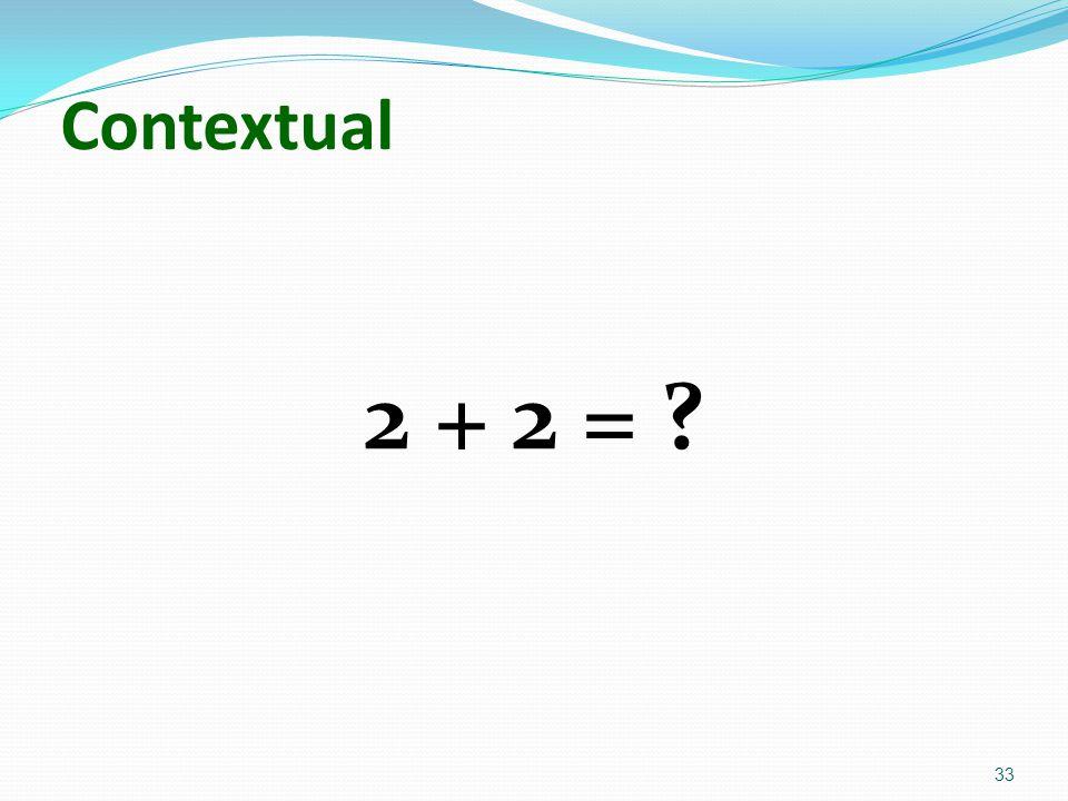 Contextual 2 + 2 =