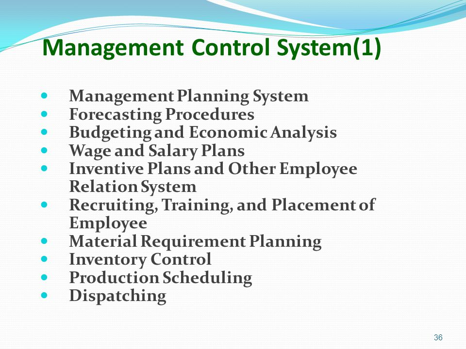 Management Control System(1)