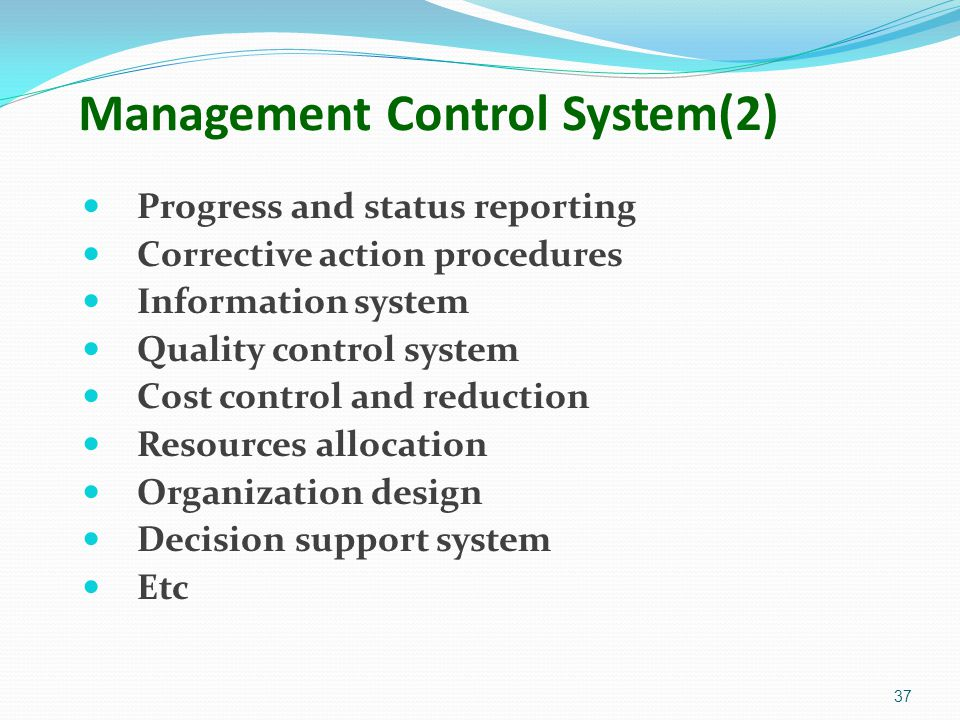 Management Control System(2)