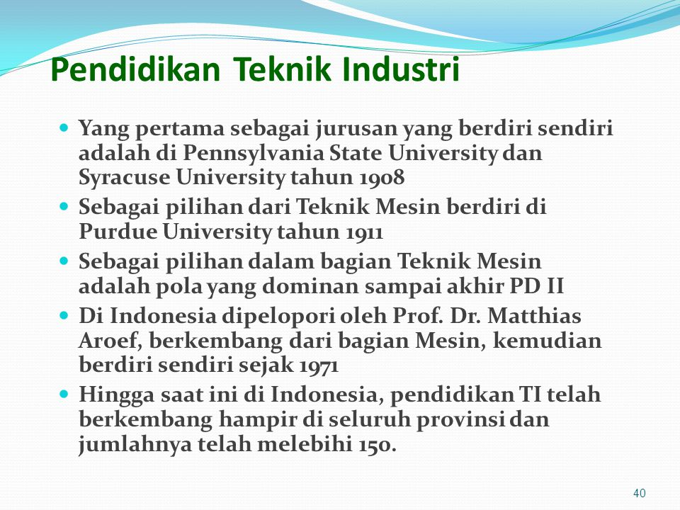 Pendidikan Teknik Industri