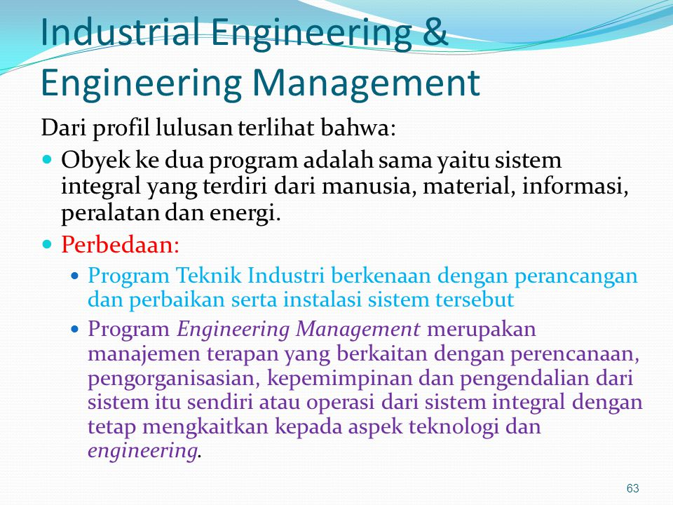 Industrial Engineering & Engineering Management