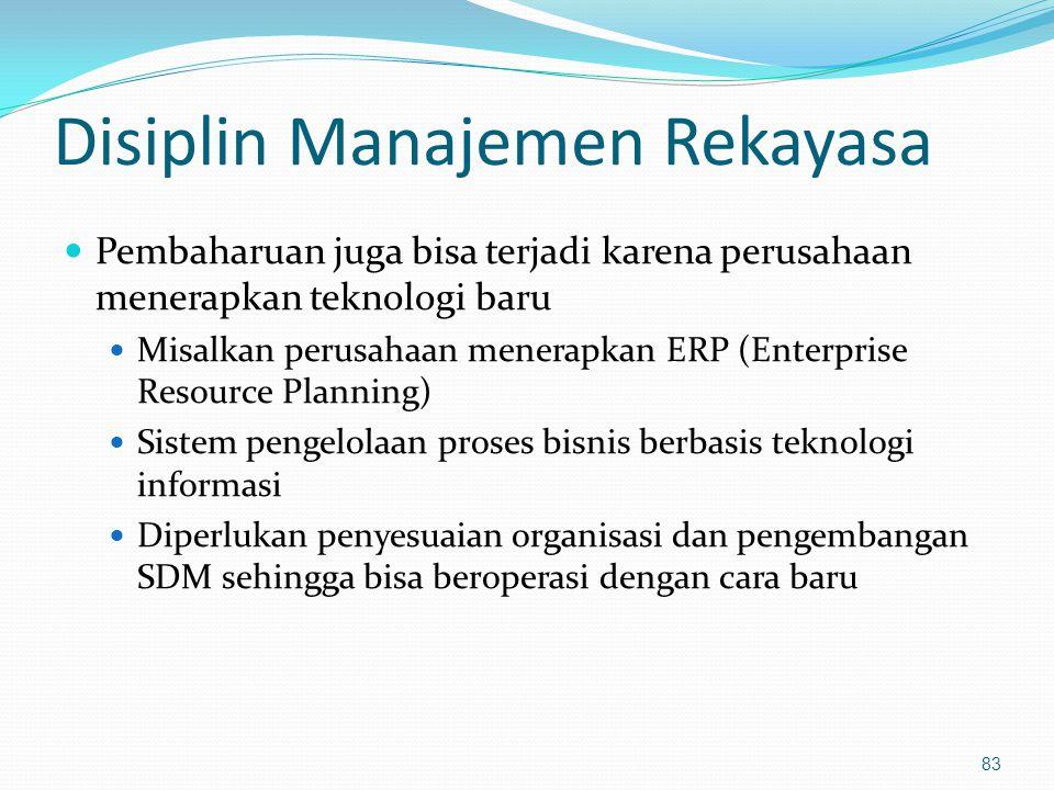 Disiplin Manajemen Rekayasa