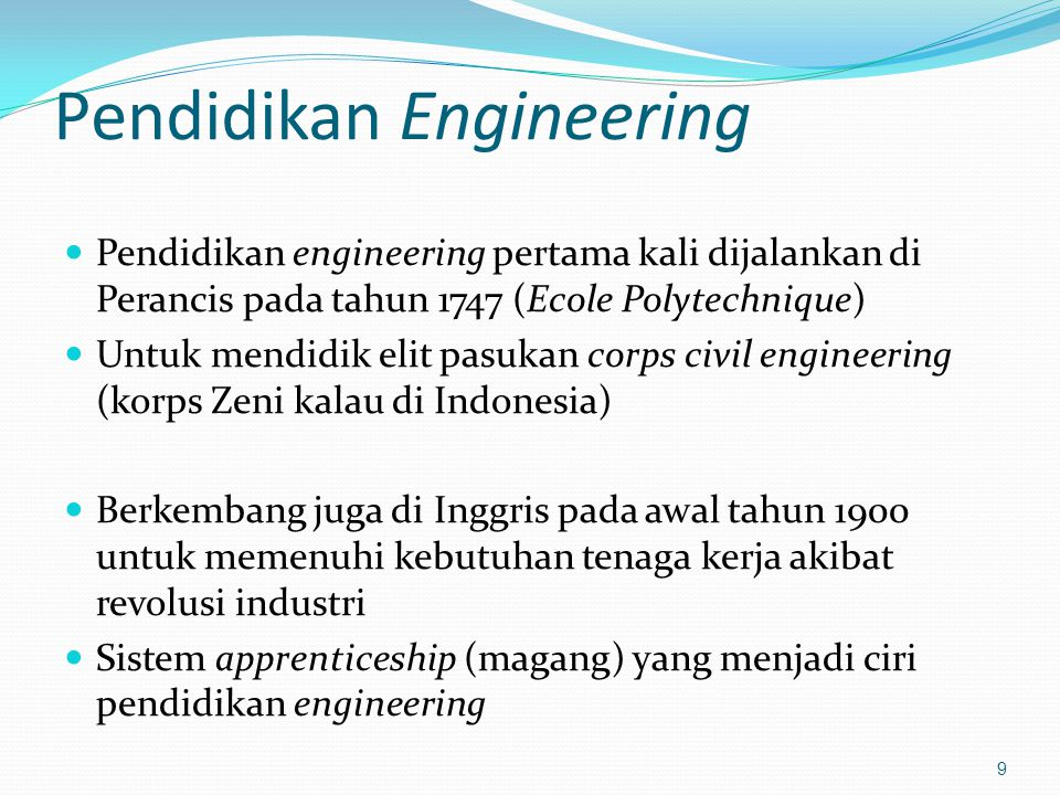 Pendidikan Engineering