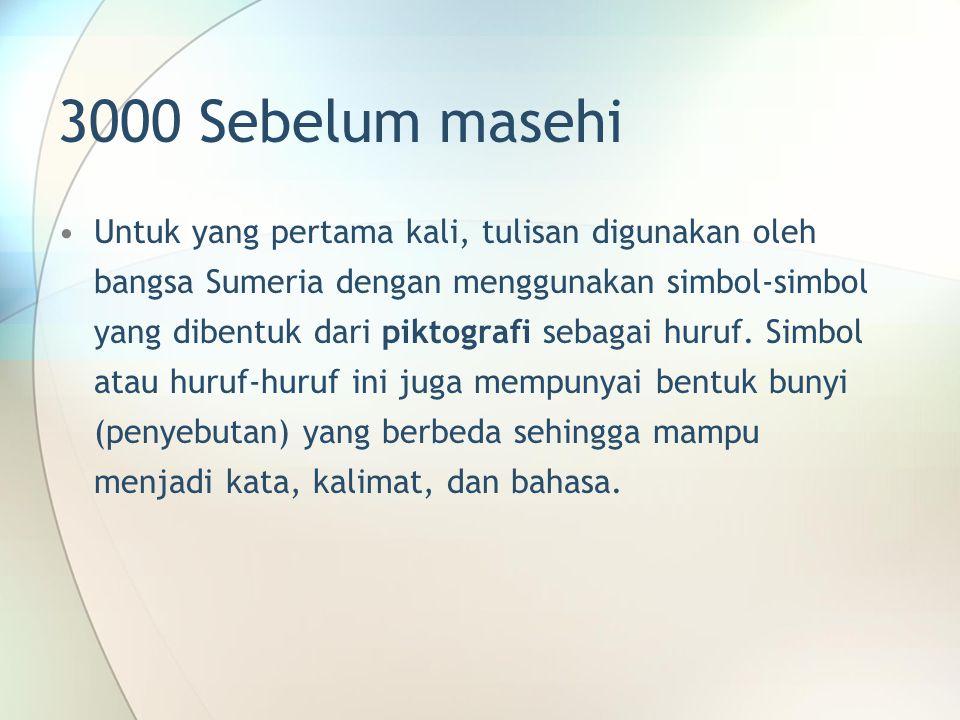 3000 Sebelum masehi
