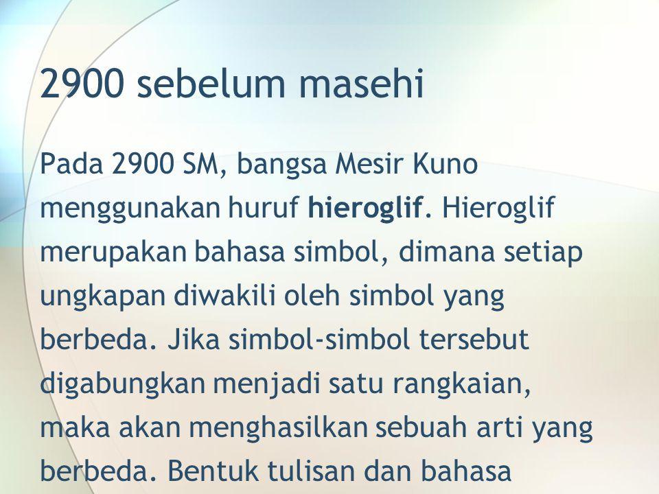 2900 sebelum masehi