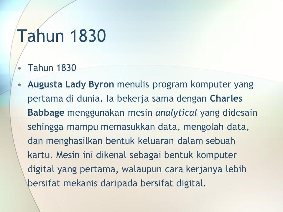 Tahun 1830 Tahun 1830.