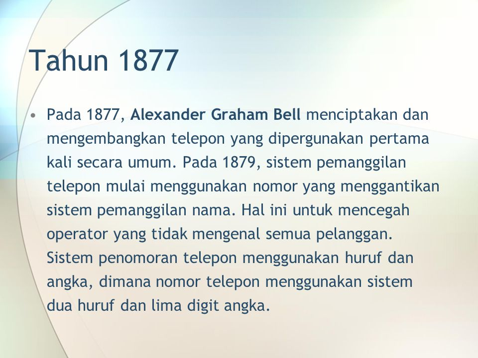 Tahun 1877