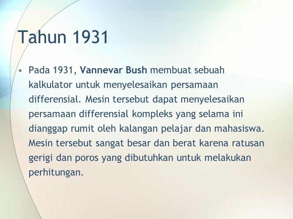 Tahun 1931