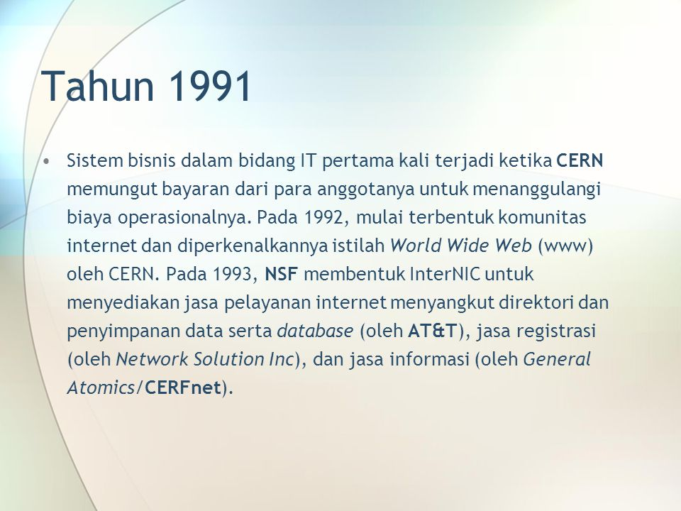 Tahun 1991