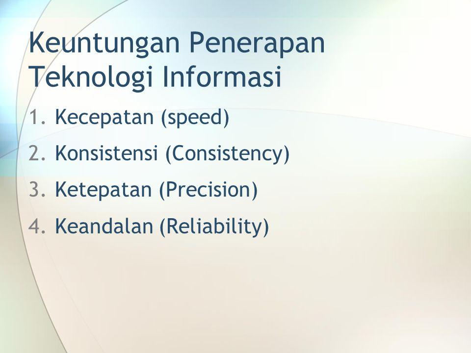 Keuntungan Penerapan Teknologi Informasi