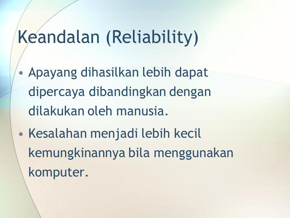 Keandalan (Reliability)