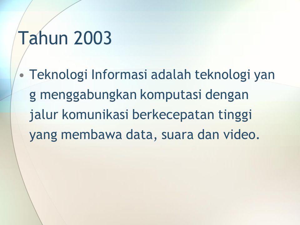 Tahun 2003