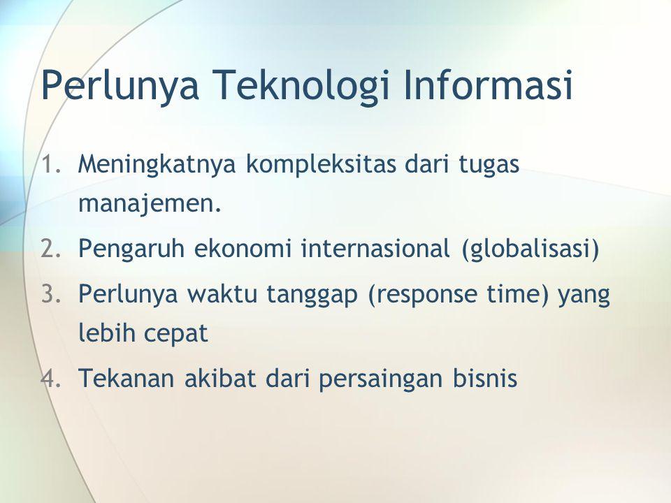 Perlunya Teknologi Informasi