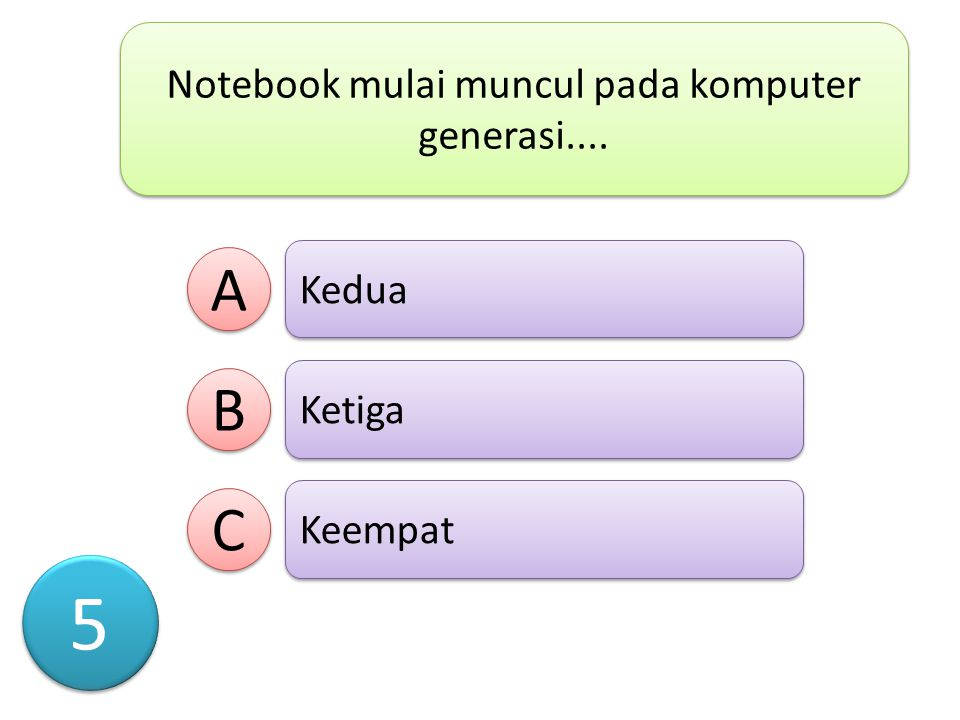 Notebook mulai muncul pada komputer generasi....