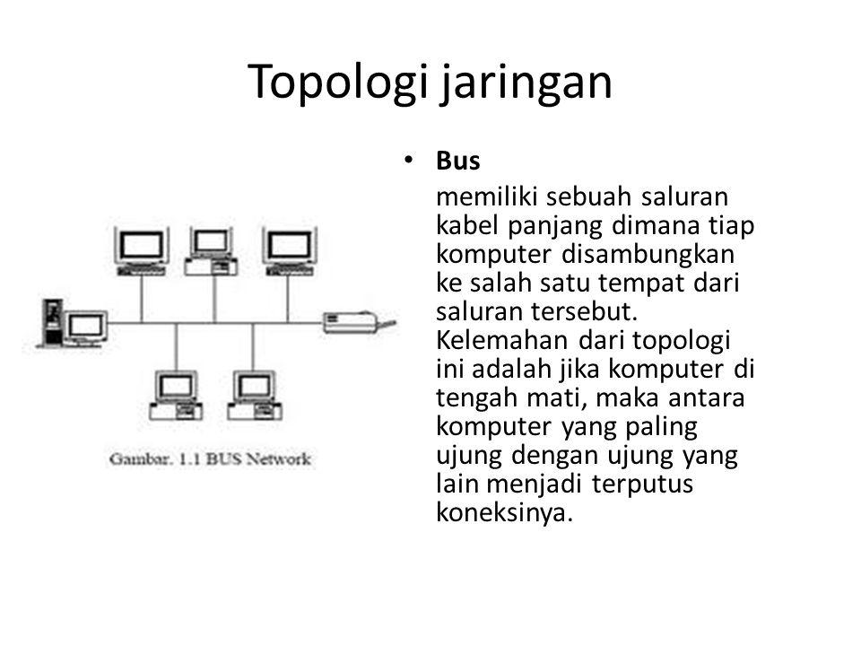 Topologi jaringan Bus.