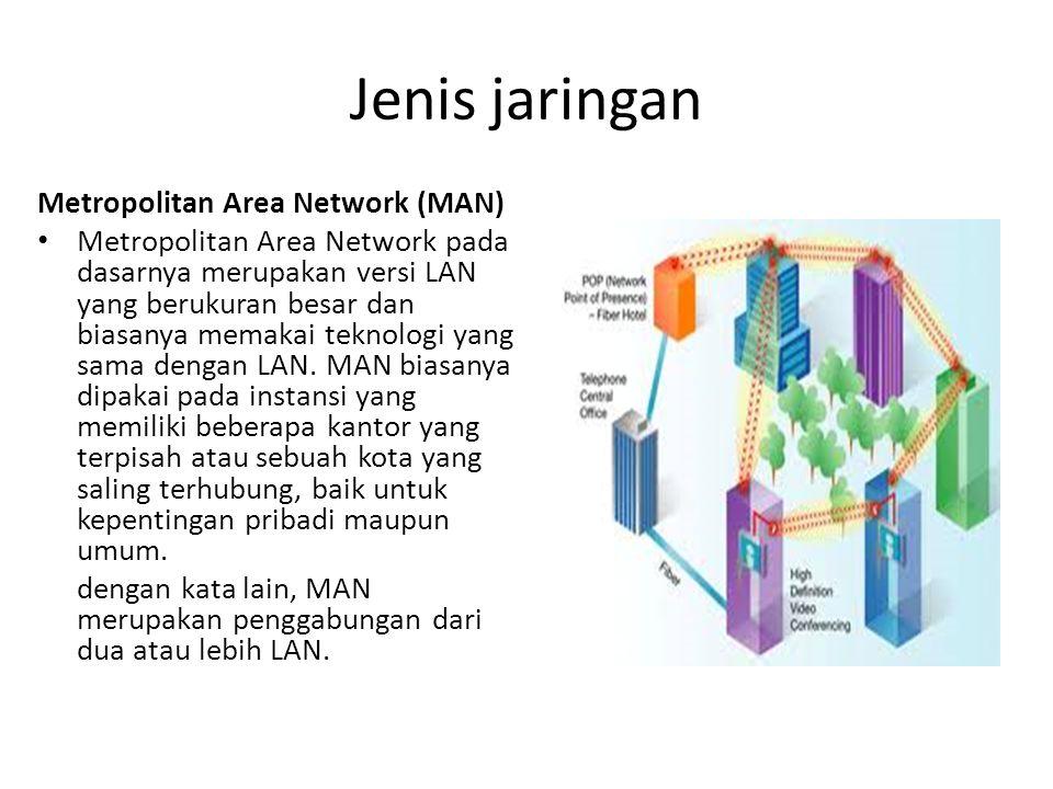 Jenis jaringan Metropolitan Area Network (MAN)