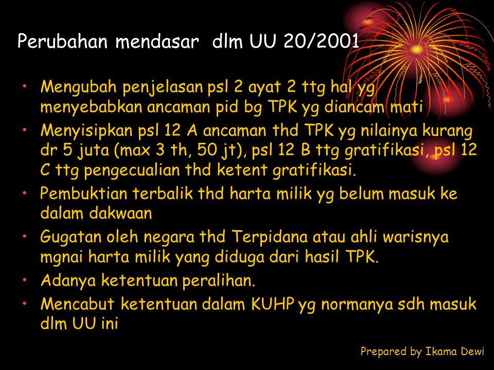 Perubahan mendasar dlm UU 20/2001