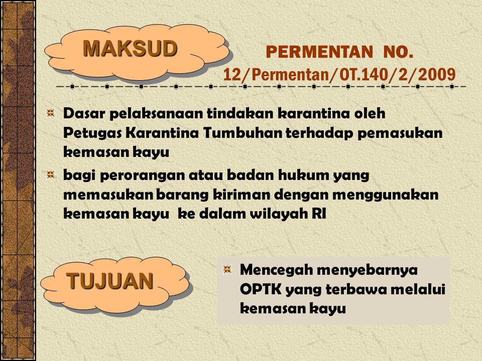 PERMENTAN NO. 12/Permentan/OT.140/2/2009