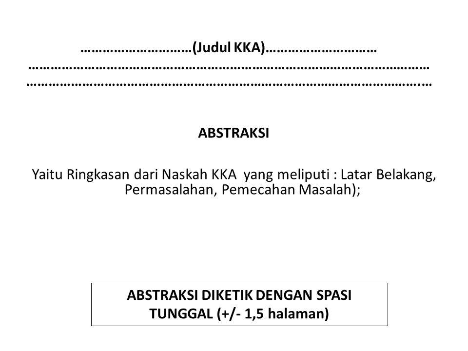 ABSTRAKSI DIKETIK DENGAN SPASI TUNGGAL (+/- 1,5 halaman)