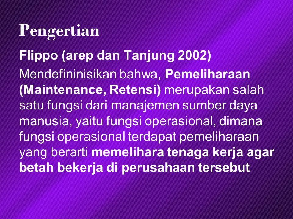 Pengertian Flippo (arep dan Tanjung 2002)