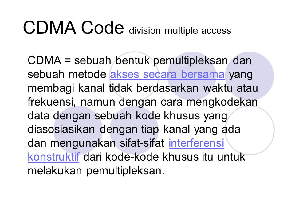code division multiple access project Problem solve get help with specific problems with your technologies, process and projects cdma stands for code division multiple access.