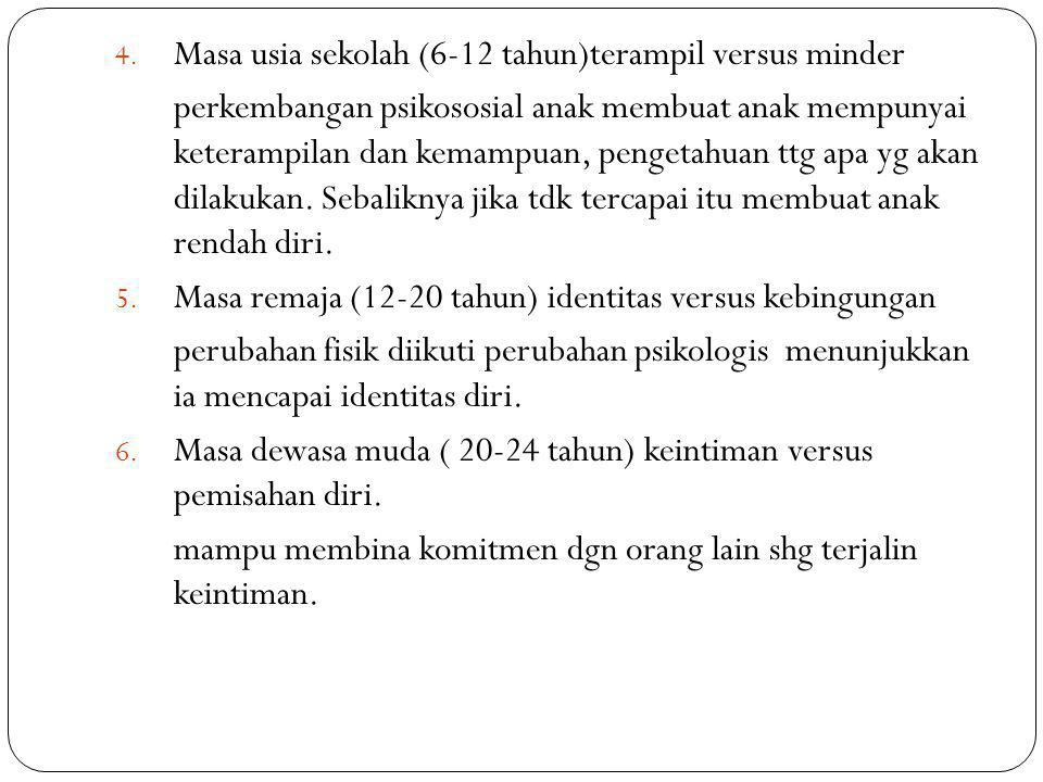 Masa usia sekolah (6-12 tahun)terampil versus minder