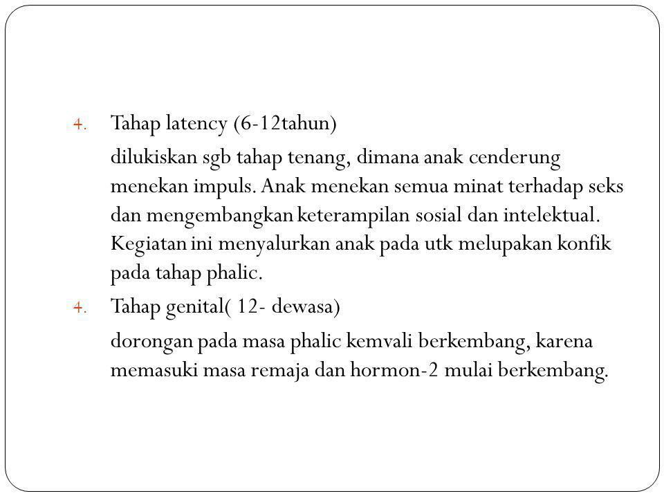Tahap latency (6-12tahun)