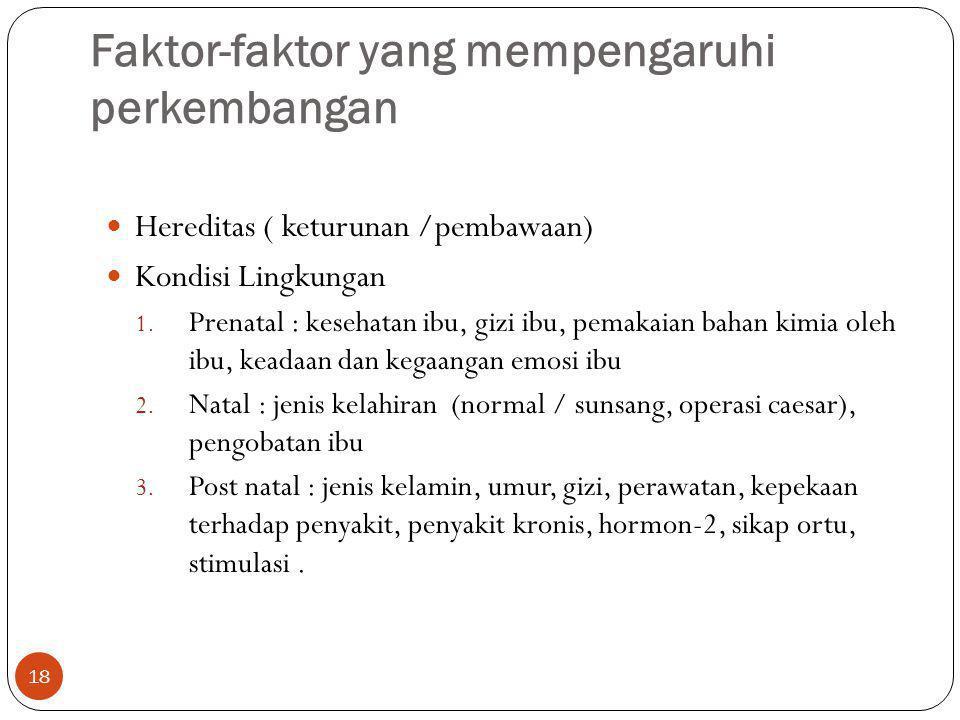 Faktor-faktor yang mempengaruhi perkembangan