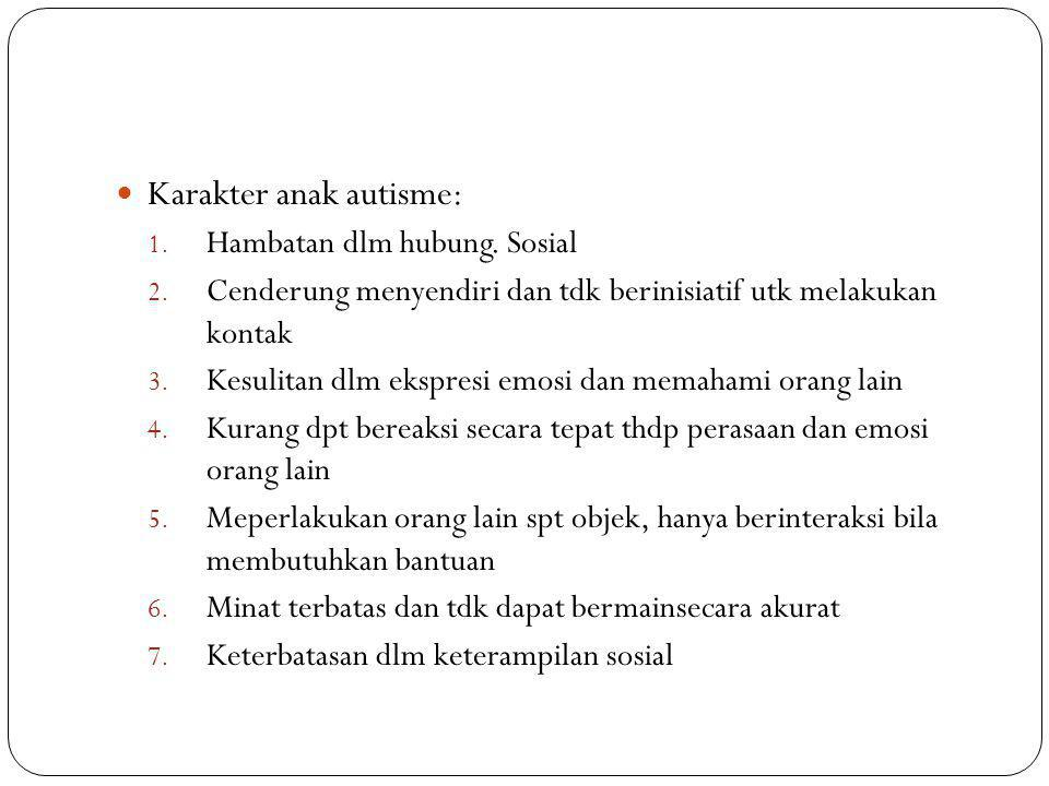 Karakter anak autisme: