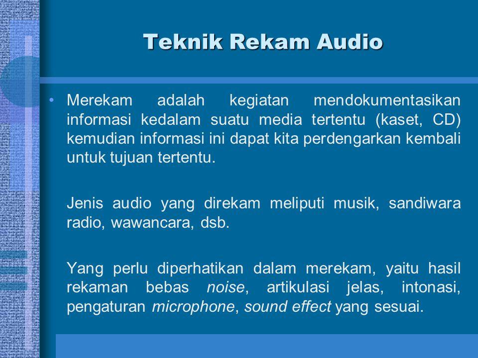 Teknik Rekam Audio