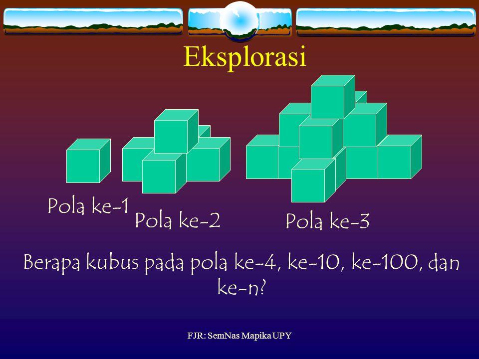 Berapa kubus pada pola ke-4, ke-10, ke-100, dan ke-n