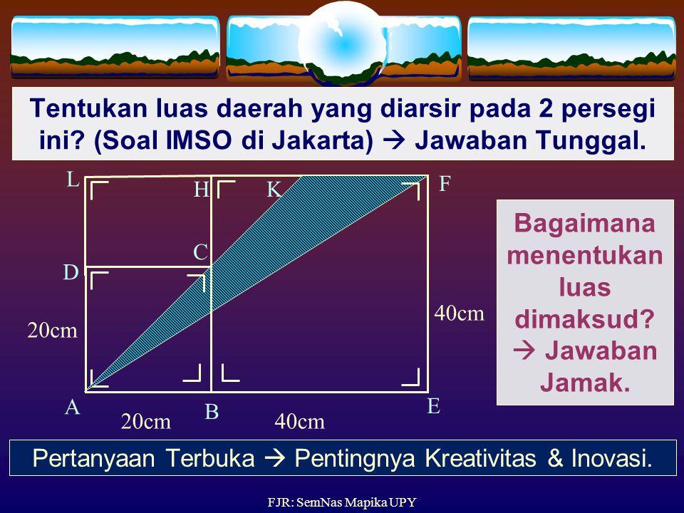 Bagaimana menentukan luas dimaksud  Jawaban Jamak.