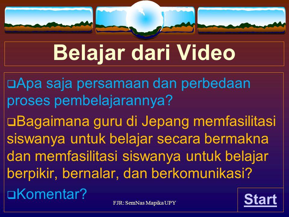 Belajar dari Video Apa saja persamaan dan perbedaan proses pembelajarannya