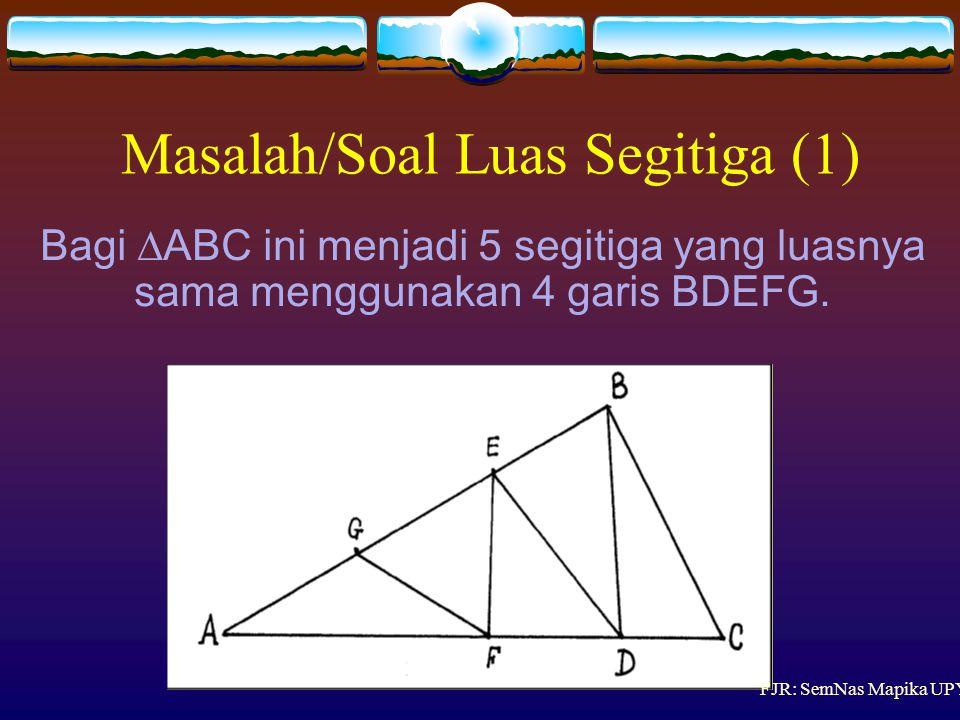 Masalah/Soal Luas Segitiga (1)