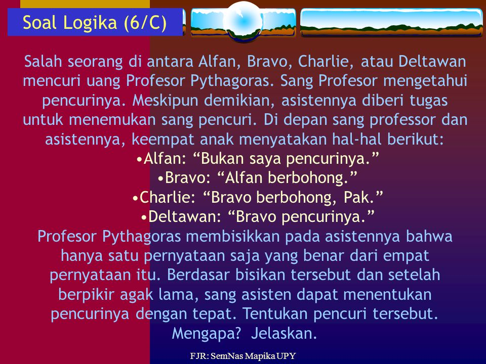 Soal Logika (6/C)
