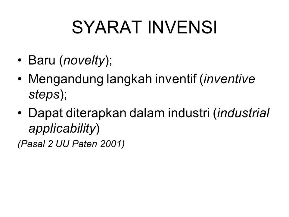 SYARAT INVENSI Baru (novelty);
