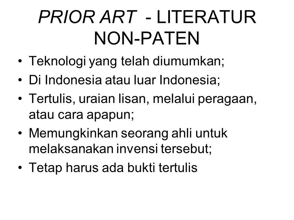 PRIOR ART - LITERATUR NON-PATEN