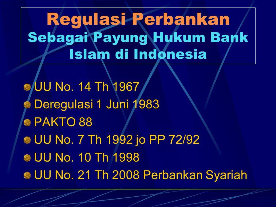 Regulasi Perbankan Sebagai Payung Hukum Bank Islam di Indonesia
