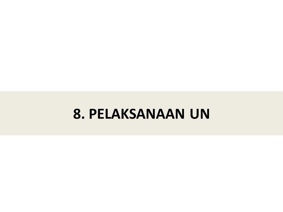 8. PELAKSANAAN UN