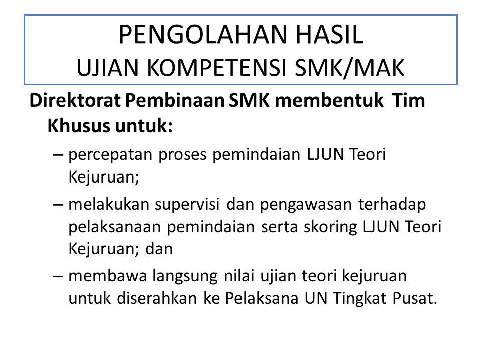 PENGOLAHAN HASIL UJIAN KOMPETENSI SMK/MAK