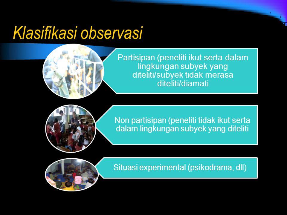 Klasifikasi observasi
