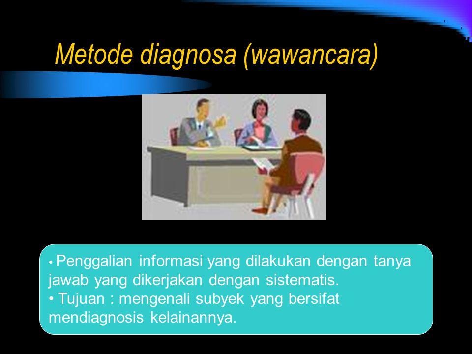 Metode diagnosa (wawancara)