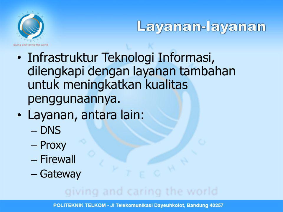 Layanan-layanan Infrastruktur Teknologi Informasi, dilengkapi dengan layanan tambahan untuk meningkatkan kualitas penggunaannya.