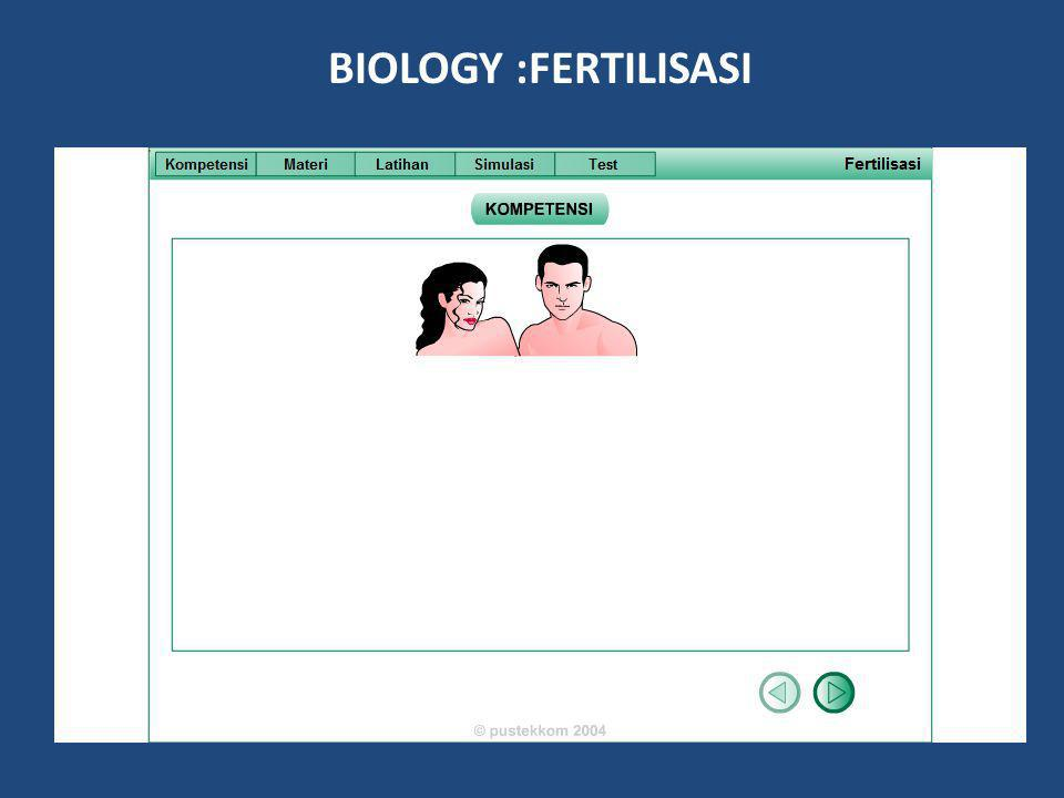 BIOLOGY :FERTILISASI