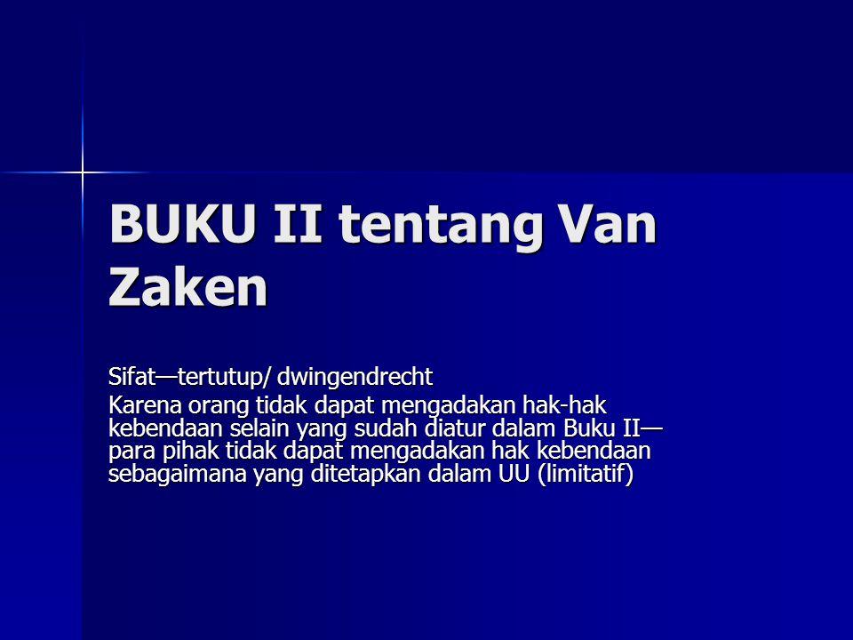 BUKU II tentang Van Zaken