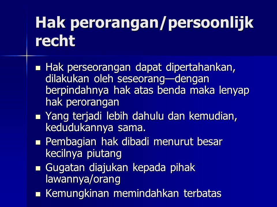 Hak perorangan/persoonlijk recht