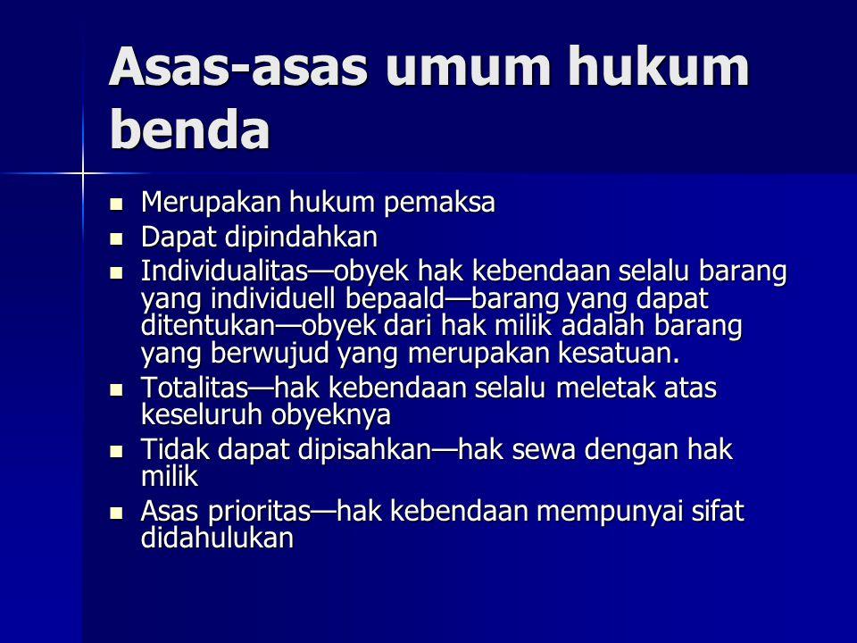 Asas-asas umum hukum benda