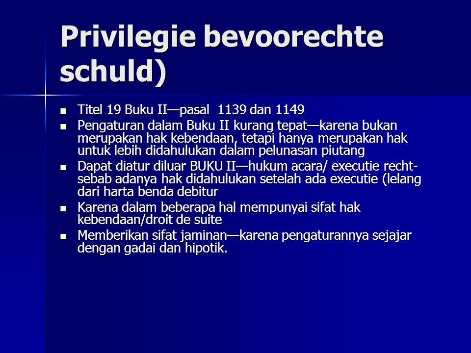 Privilegie bevoorechte schuld)